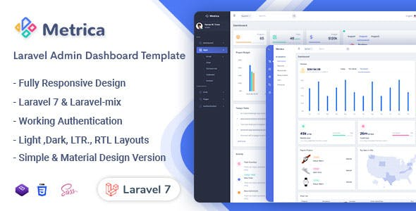 Metrica - Laravel Admin & Dashboard Template