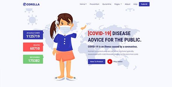 Corella   Coronavirus (COVID-19) Social Awareness And Medical Prevention Template