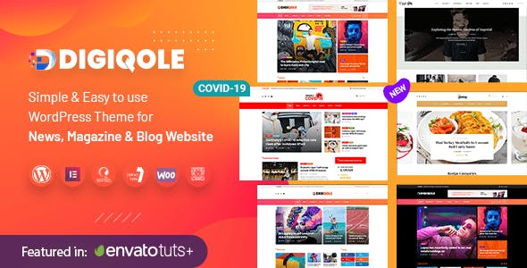 Newspaper News Magazine WordPress Theme - Digiqole