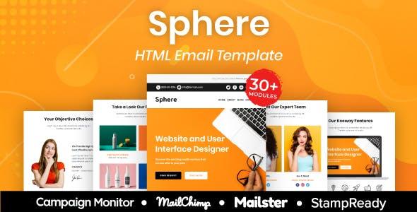Sphere - Multipurpose Responsive Email Template 30+ Modules Mailchimp