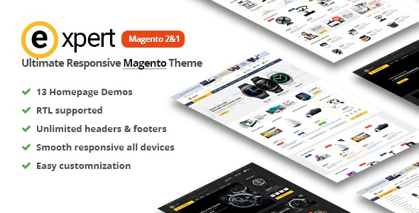 Expert Premium Responsive Magento 2 | RTL supported - Magento eCommerce