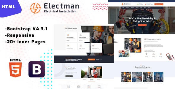 Electman - Electricity Repair HTML Template