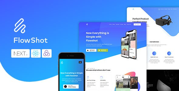 Flowshot - React Next Multi Concept App & Saas Landing Page