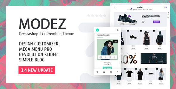 MODEZ - Responsive Prestashop Theme - Shopping PrestaShop
