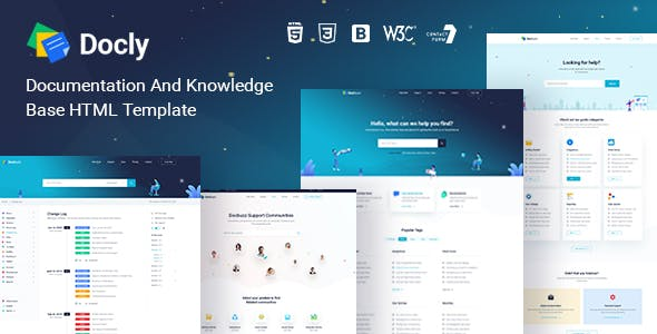 Download Docly - Online Documentation And Knowledge Base HTML5 Template with Forum