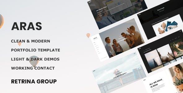 Download Aras - Bootstrap4 personal, portfolio and resume