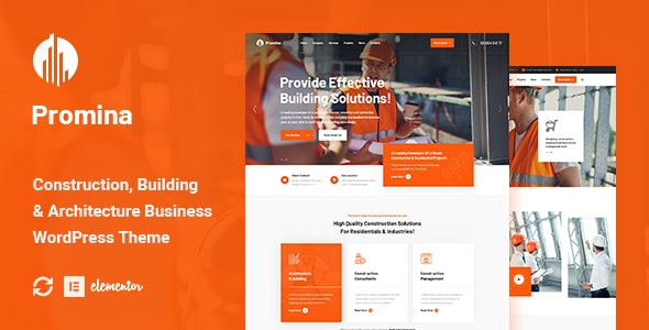 Promina - Construction And Building WordPress Theme - Business Corporate