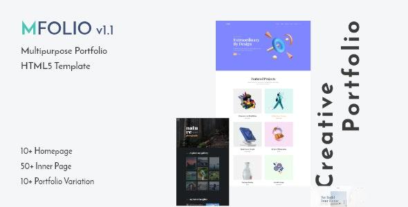 MFolio | Multipurpose Portfolio HTML5 Template - Portfolio Creative