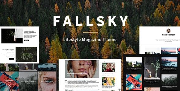 Fallsky - Lifestyle Magazine Theme with Shop - Blog / Magazine WordPress