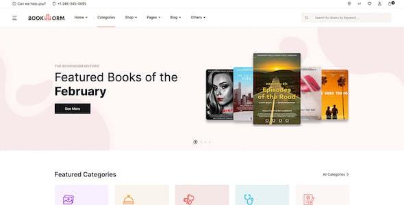 Bookworm - Bookstore & Bookshop eCommerce HTML Template