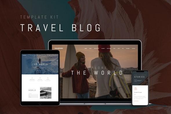 Vagabonds - Travel Blog Template Kit - News & Magazines Elementor
