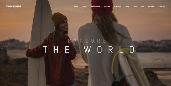 Vagabonds - Travel Blog Template Kit