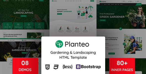 Planteo - Gardening and Landscaping HTML5 Template