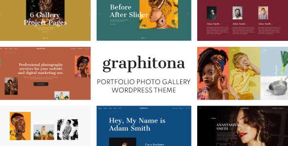 Download Graphitona - Portfolio Photo Gallery WordPress Theme