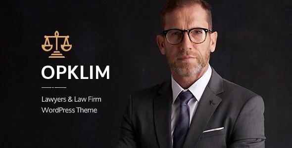 Opklim - Law Firm WordPress Theme - Business Corporate