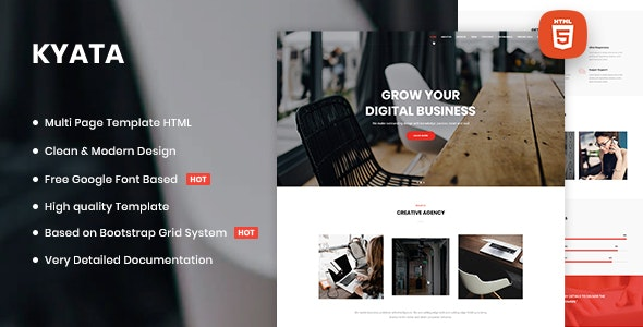 Kyata | Multipurpose HTML5 Template - Miscellaneous Site Templates