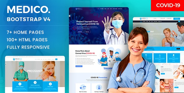 MediCo.- Covid-19 & Hospital Doctor & Medical Clinic HTML Template - Health & Beauty Retail