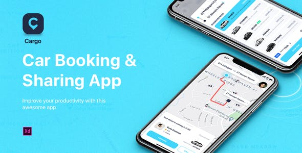 CARGO - Car Booking for Adobe XD