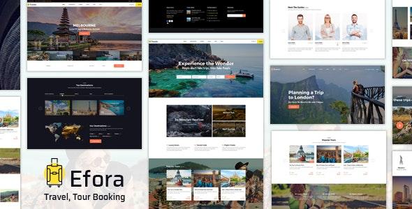Efora - Travel Agency WordPress Theme - Travel Retail