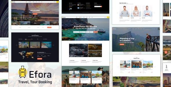 Efora - Travel Agency WordPress Theme