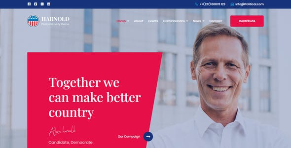 Harnold - Political Campaign HTML Template