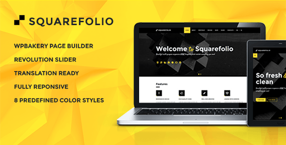 Squarefolio - Finance Company Theme - Business Corporate