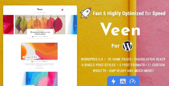 Download Veen - Minimal & Lightweight Blog for WordPress