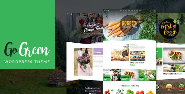 GoGreen: Organic Food, Farm, Market Business WordPress Theme - Business Corporate
