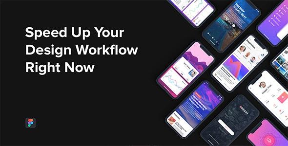 Origin Mobile UI Kit for Figma - Figma UI Templates