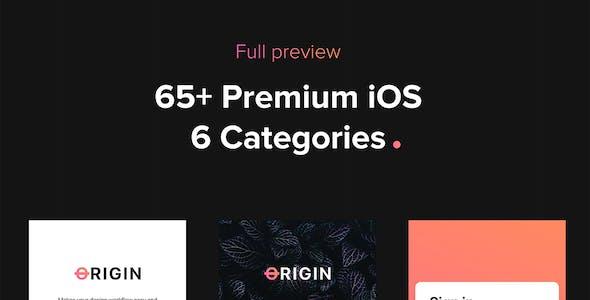 Origin Mobile UI Kit for Figma