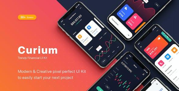 CURIUM - Financial UI Kit for Figma