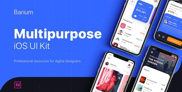 BARIUM - Multipurpose UI Kit for Adobe XD