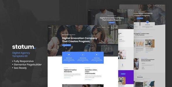 Statum - Business & Agency Elementor Template Kit