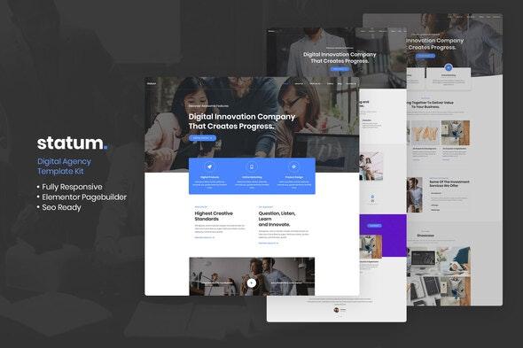 Statum - Business & Agency Elementor Template Kit - Business & Services Elementor