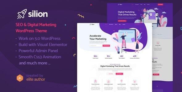 Silion - Digital Marketing WordPress Theme - Marketing Corporate