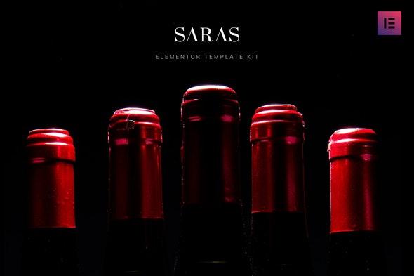 Saras - Wine Template Kit - Food & Drink Elementor