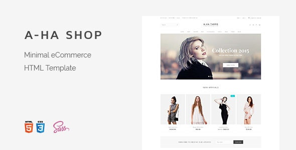 A-ha Shop | Minimal Elegant eCommerce HTML Template - Shopping Retail
