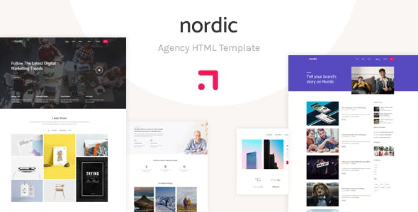 Nordik - Portfolio & Agency HTML5 Template