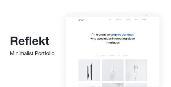 Reflekt - Minimalist Portfolio Theme - Portfolio Creative