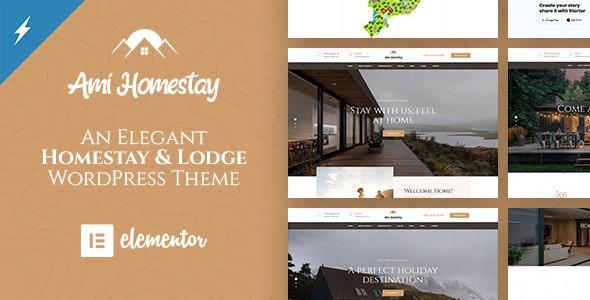 Ami Homestay - Hotel Booking WordPress Theme - Travel Retail