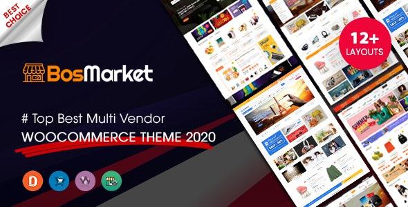 BosMarket - Flexible Multivendor WooCommerce WordPress Theme (12 Indexes + 2 Mobile Layouts) - WooCommerce eCommerce