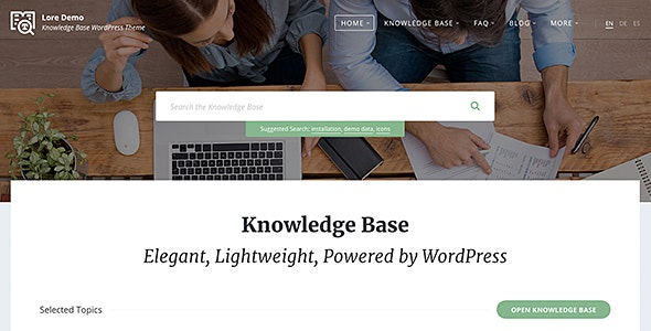 Lore - Elegant Knowledge Base WordPress Theme - Miscellaneous WordPress