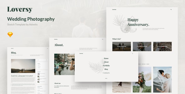 Loversy - Wedding Photography Sketch Template - Events Entertainment