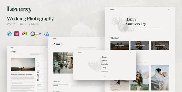 Download Loversy - Wedding Photography WordPress Theme