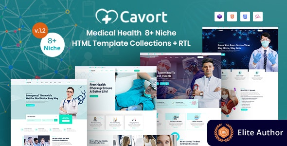 best medical bootstrap templates