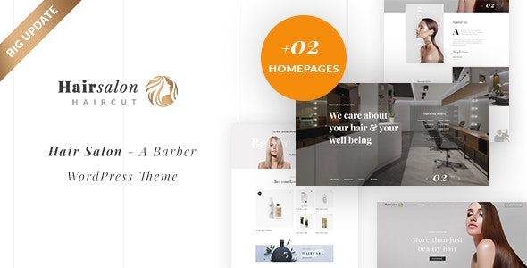 Barber & Beauty Shop WordPress Theme - Hair Salon - Health & Beauty Retail