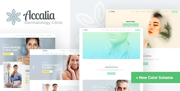 Accalia | Dermatology Clinic & Cosmetology Center Medical WordPress Theme - Health & Beauty Retail