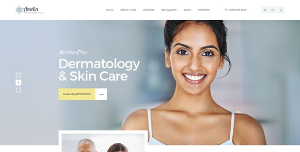 Accalia | Dermatology Clinic & Cosmetology Center Medical WordPress Theme