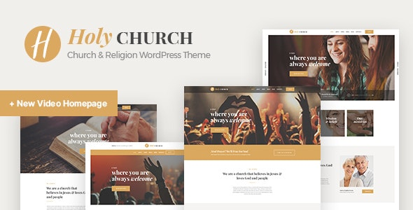 Holy Church | Religion, Charity & Nonprofit WordPress Theme - Churches Nonprofit