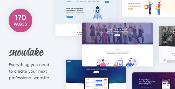 Snowlake - Creative Business & Startup Template - Creative Site Templates